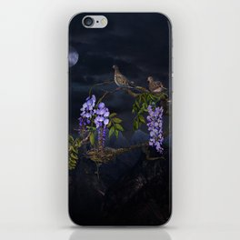 Doves In Moonlight iPhone Skin