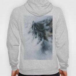 Moody Switzerland Mountain Peaks - Landscape Photography Hoody