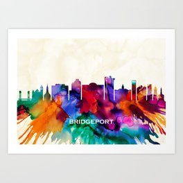 Bridgeport Skyline Art Print