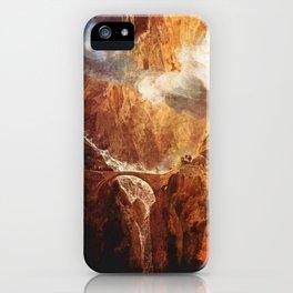 The Devil's Bridge St.Gotthard - Joseph Mallord William Turner iPhone Case
