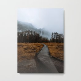 Misty Yosemite Trails Metal Print