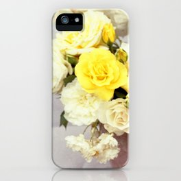 Yellow roses bouquet, floral photography iPhone Case