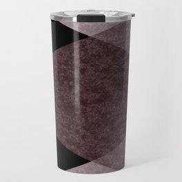 Black and brown marble Travel Mug