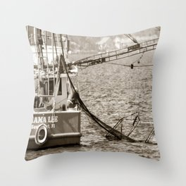 Shrimpers Throw Pillow