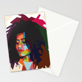 beautiful frizzy girl Stationery Cards