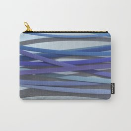 ribbon paper background blue Carry-All Pouch