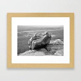 Rock on the Ledge Framed Art Print