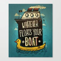quotes Canvas Prints featuring Quotes by Ronan Lynam