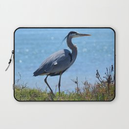 heron by the bridge Laptop Sleeve