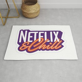 NETFLIX AND CHILL Rug