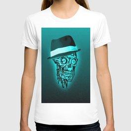 Elegant Skull with hat,mint T-shirt