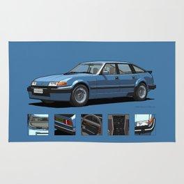 Rover Vitesse 1986 Moonraker Blue Rug