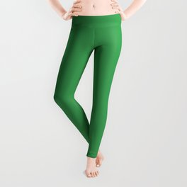 Solid Fresh Clover Green Color Leggings