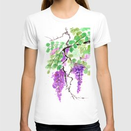Purple Lilac Watercolor T-shirt