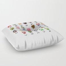 Video Games Pixel Alphabet Floor Pillow