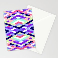 Smart Diagonals Coral Stationery Cards