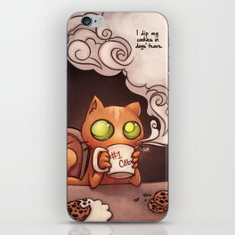 Cookies and cat iPhone Skin
