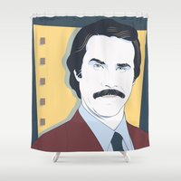 burgundy Shower Curtains featuring Burgundy by Arne AKA Ratscape
