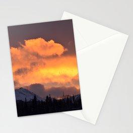Sunrise Behind Chugach Mts ~ II Stationery Cards