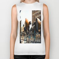 the lights Biker Tanks featuring Lights by Kim Ramage