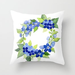 French Blues Throw Pillow