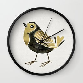 24-Karat Goldfinches Wall Clock