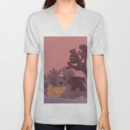 Just A Tiny Golden Cactus Unisex V-Neck