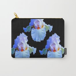 PASTEL BLUISH WHITE IRISES Carry-All Pouch