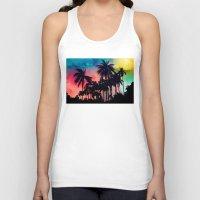 palm tree Tank Tops featuring palm tree by mark ashkenazi