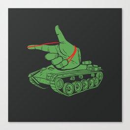 Rubber Artillery Canvas Print