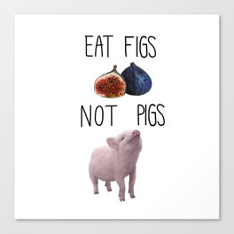 Eat Figs not Pigs Canvas Print