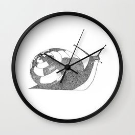 Snail - One Liner Artwork Wall Clock