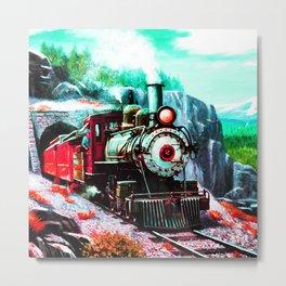 starry night train Metal Print