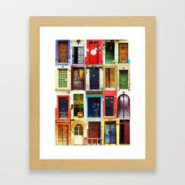 Doors of Mexico Framed Art Print