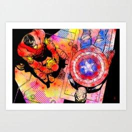 Civil war - The confession Art Print