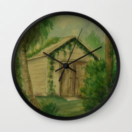 Overgrown Shed WC161103a Wall Clock