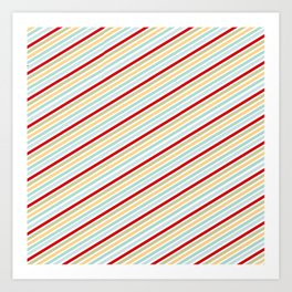 All Striped Art Print