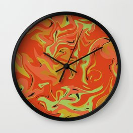 Papaya Juice Wall Clock
