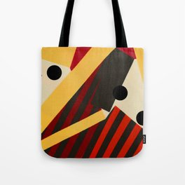 Abstract in Stripes and Dots Tote Bag