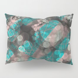 Bubblicious - Teal Pink & Taupe Palette Pillow Sham
