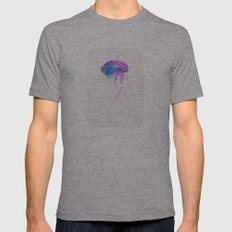 Jellyfish #1 Mens Fitted Tee Athletic Grey SMALL