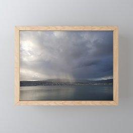 Sunrays Over Dunedin Framed Mini Art Print