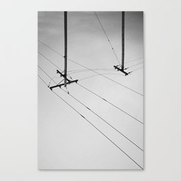 Utility Lines Canvas Print