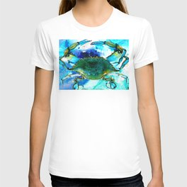 Blue Crab - Abstract Seafood Painting T-shirt