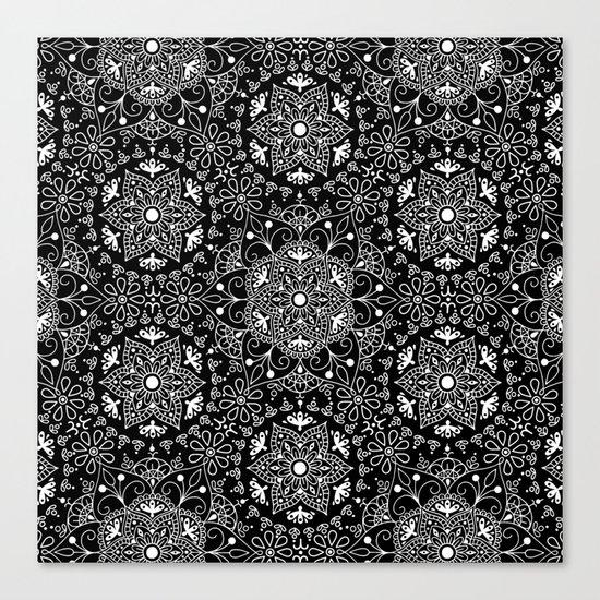 Mandala_Black and White Canvas Print