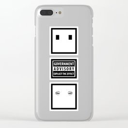 Government Advisory Explicit THC Effect Warning Clear iPhone Case
