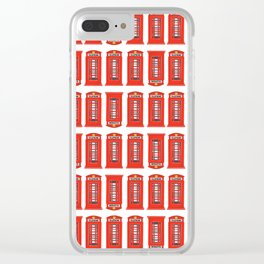 Red Telephone Booth Clear iPhone Case