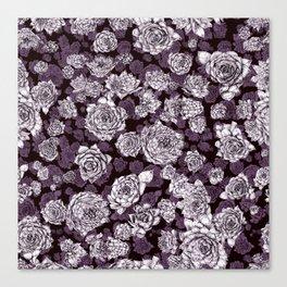 sempervivum-pattern Canvas Print