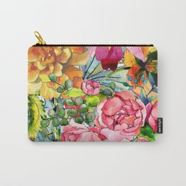 Watercolor Flowers No3 Carry-All Pouch