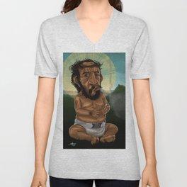 Baby Jesus Having A Smoke Break Unisex V-Neck